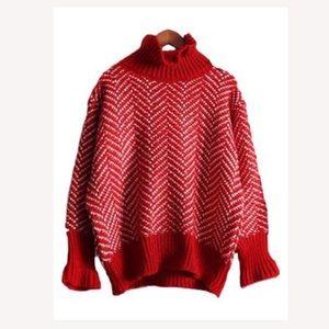 'Shasta' Chevron High-neck sweater